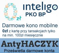 Link do Antyhaczyk: Konto Inteligo w PKO - opinie. (Prywatne lub firmowe, darmowe bez opłat)