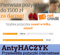 Link do Antyhaczyk: NetCredit / InCredit - opinie...